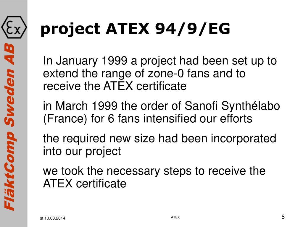 project ATEX 94/9/EG