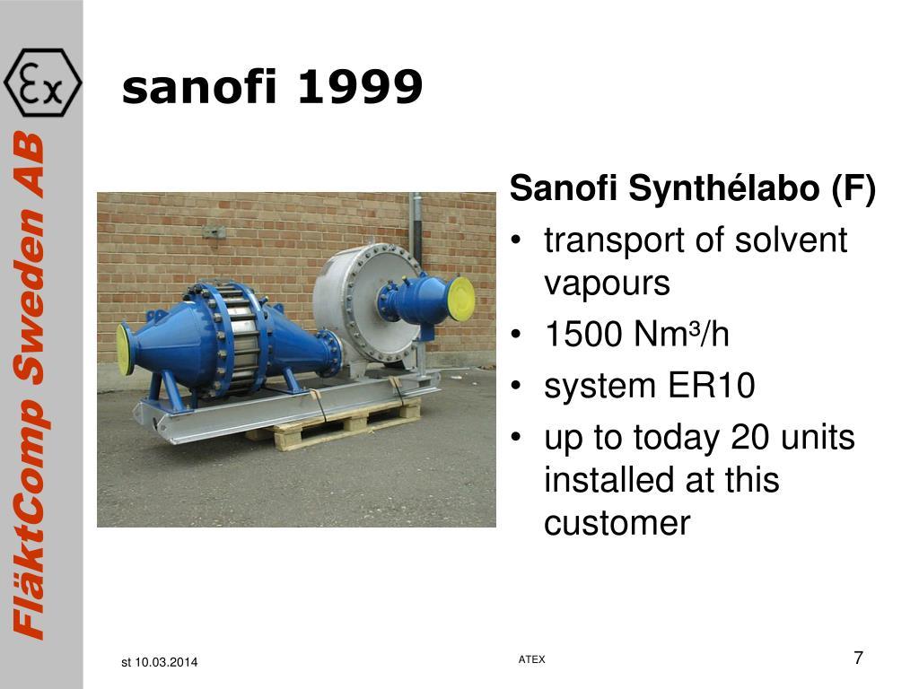 sanofi 1999