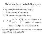 finite uniform probability space