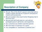 description of company
