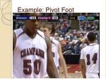 example pivot foot1