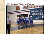 example visual count