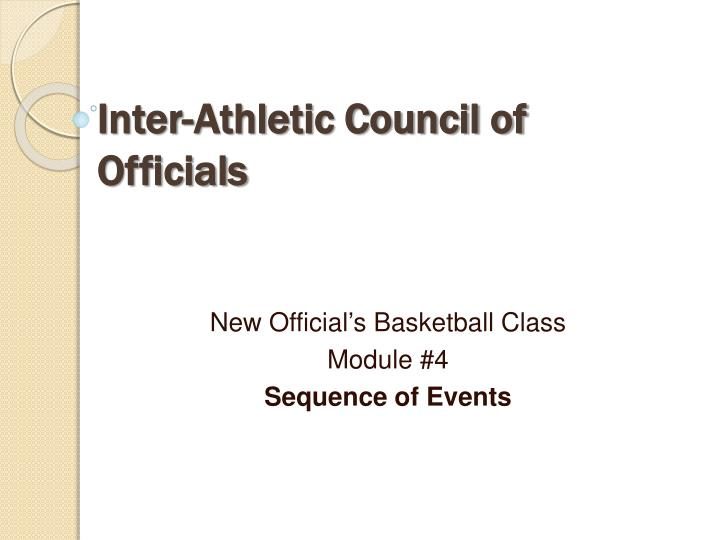 inter athletic council of officials n.