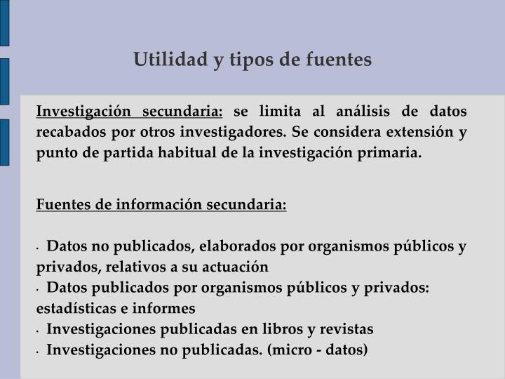 Investigación secundaria: