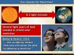 sun glasses for neutrinos