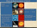 where do neutrinos appear in nature1