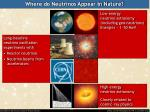 where do neutrinos appear in nature2