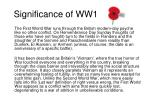 significance of ww1