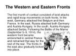 the western and eastern fronts