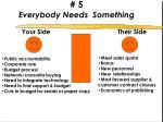 5 everybody needs something