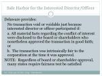 safe harbor for the interested director officer