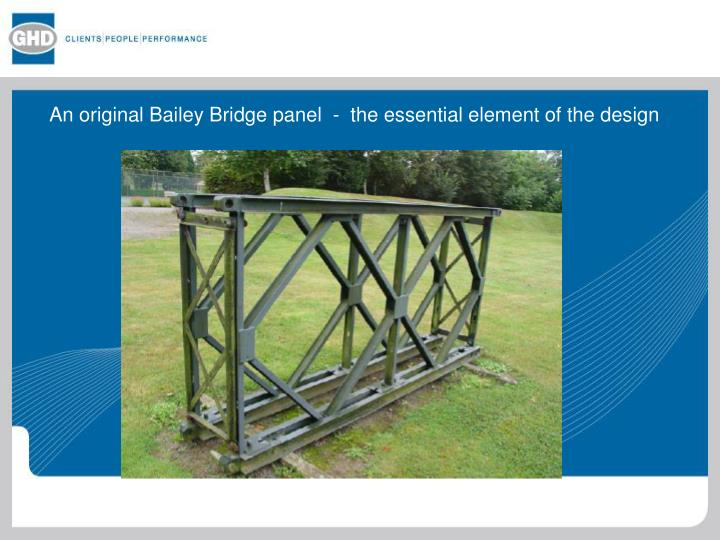 An original Bailey Bridge panel  -  the essential element of the design