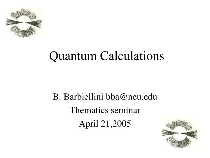 quantum calculations n.