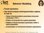 behavior modeling