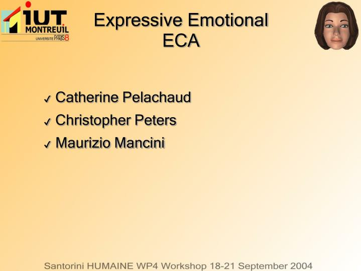 expressive emotional eca n.