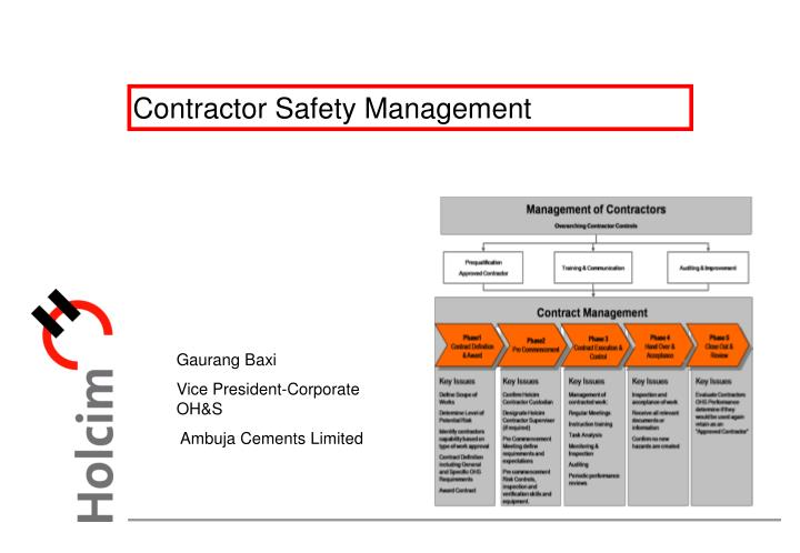 contractor safety management n.
