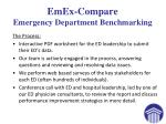 emex compare emergency department benchmarking2