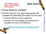 bell activity