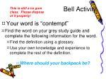 bell activity1