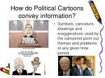 how do political cartoons convey information