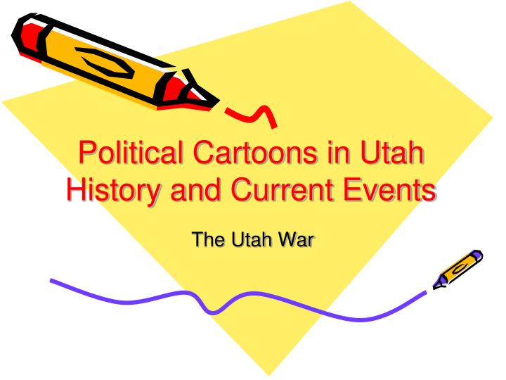 political cartoons in utah history and current events n.