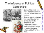 the influence of political cartoonists