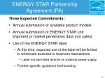 energy star partnership agreement pa