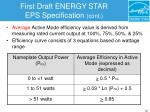 first draft energy star eps specification cont