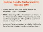 evidence from the afrobarometer in tanzania 2008