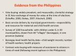 evidence from the philippines