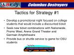 tactics for strategy 1