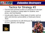 tactics for strategy 3