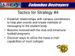 tactics for strategy 4