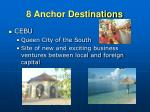 8 anchor destinations1