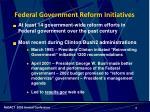 federal government reform initiatives