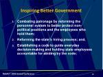 inspiring better government