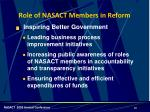 role of nasact members in reform2