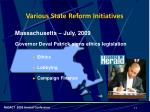 various state reform initiatives1
