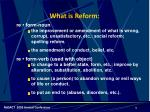 what is reform