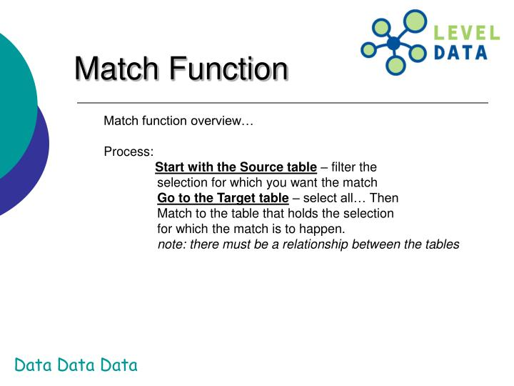 Match Function