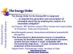 the energy order