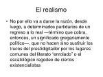 el realismo1