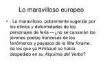 lo maravilloso europeo