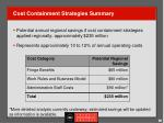 cost containment strategies summary
