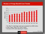 review of fringe benefit cost trends