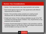 section 13 c considerations