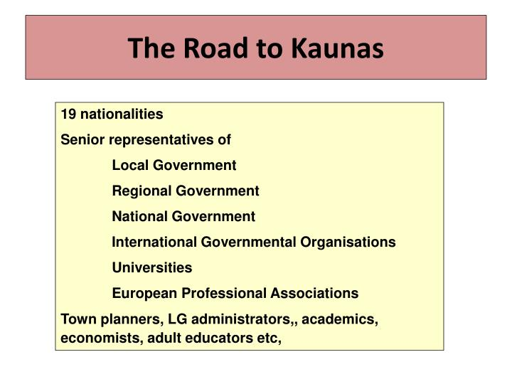 the road to kaunas n.