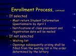 enrollment process continued