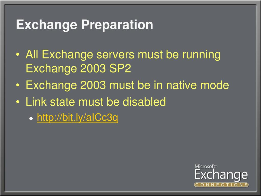 Exchange Preparation