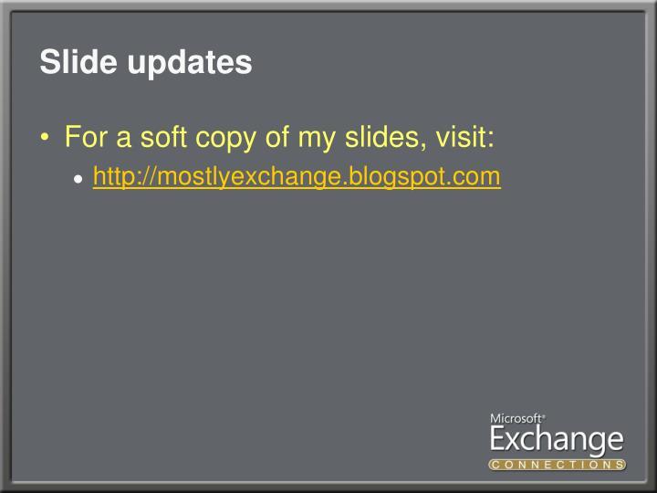 Slide updates